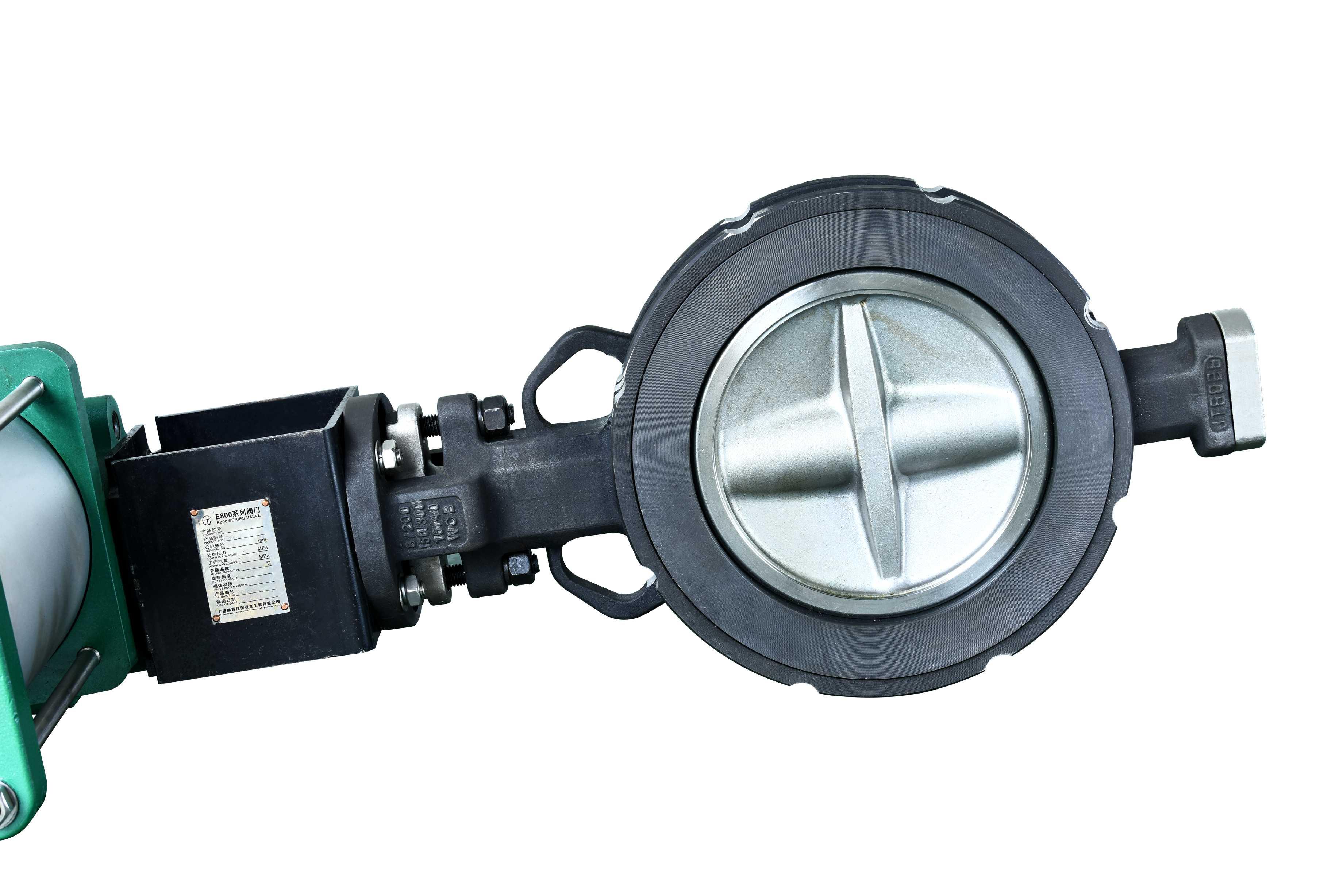 煤气阀 GTE81L1-10C,DN80 阀体WCB 阀板304 介质:空气,温度:350℃,带SMC-VP542电磁阀,贝加孚行程开关,过滤减压器