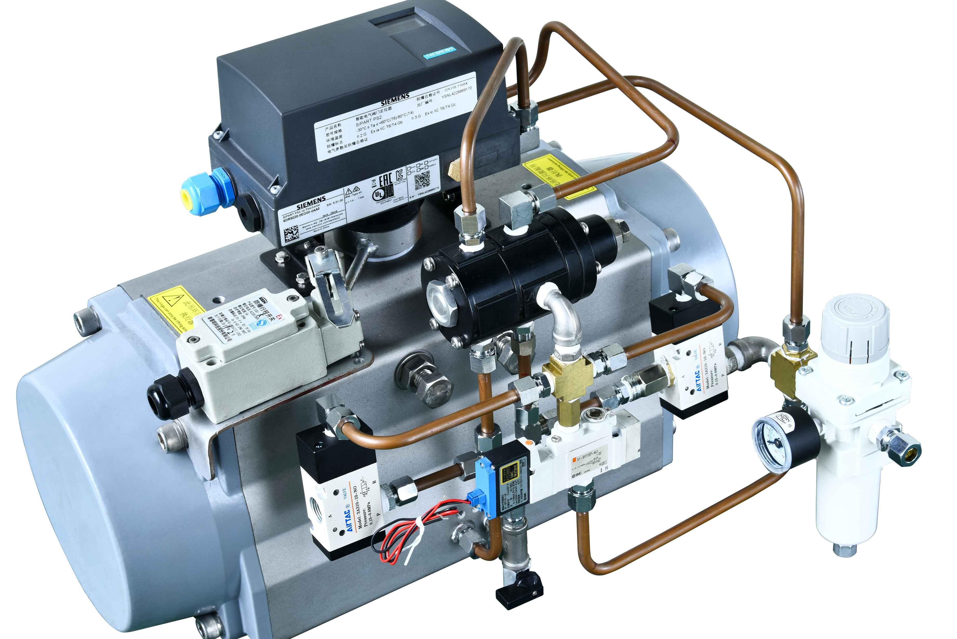 气动掺冷风温度调节阀 GTZSHW-6C DN150 阀体、阀板WCB 阀门定位器YTC 双作用气缸 ----