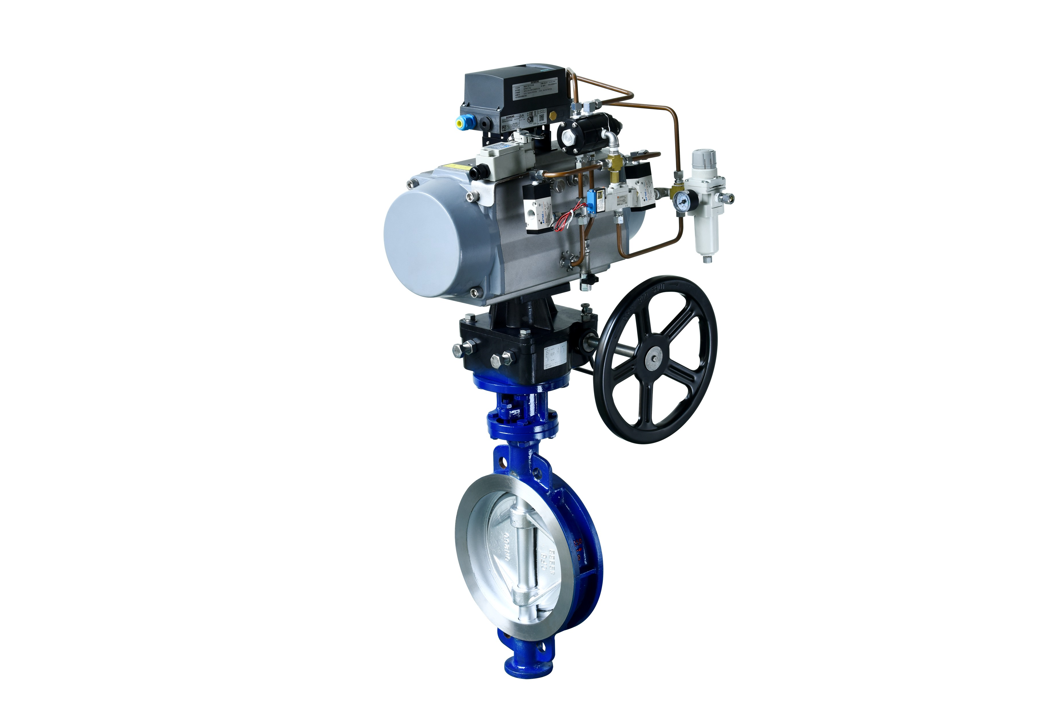 偏心型高性能开关蝶阀 GTZSHWm-6C DN250 710E 阀体、阀板WCB 电磁阀(ASSO)220V 单作用气缸----