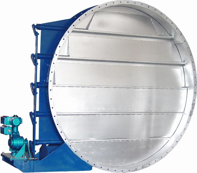 风机入口调节蝶阀 GTZKYVb-2.5C DN900  阀体WCB阀板WCB 介质:空气,温度:350℃,带SMC-IP8100定位器,带空气过滤器 带位置开关,气动长行程执行机构