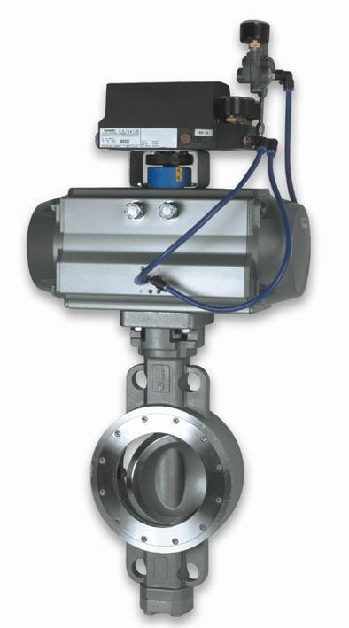气动三偏心快速切断阀 GTZSHWm-1.0C DN500  阀体、阀板WCB 位置开关24V、 高温电磁阀(ASSO)220V 双作用气缸