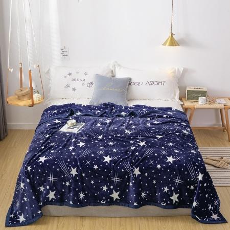 约克罗兰 云貂绒毛毯  满天星
