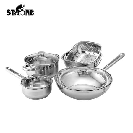 司顿 中式锅具5件套 STH065 厨房用品