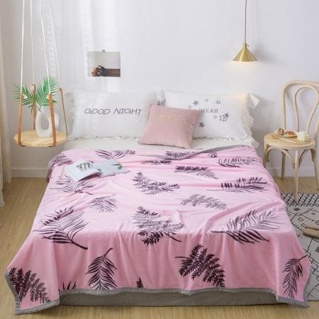 约克罗兰 貂绒毯—芭蕉叶 床上用品 毛毯