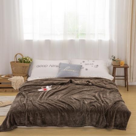 约克罗兰 菠萝格时尚盖毯 床上用品 毛毯