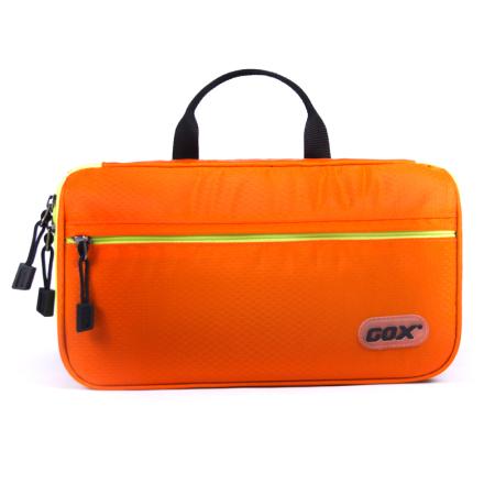 GOX出差洗漱包 便携化妆包 男女通用超大加厚包 旅游用品收纳包 网状隔层尼龙包 对开超大洗漱包