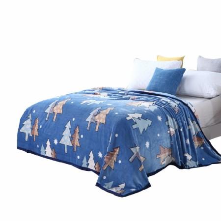 床上用品 美缘登家纺绿野仙踪丝绒毯 雪松