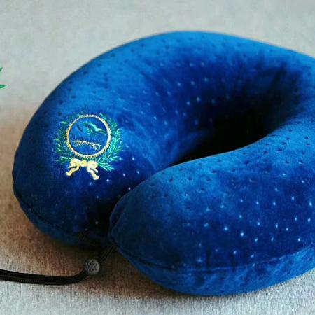 素万天然乳胶枕SV-U U型颈枕(蓝、白、咖啡)