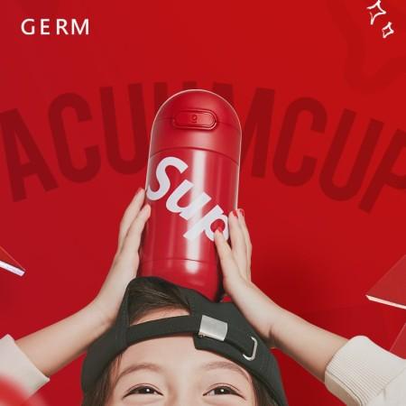 日本格沵(GERM)儿童保温杯带吸管一杯子两盖316不锈钢水壶学生防摔潮童水