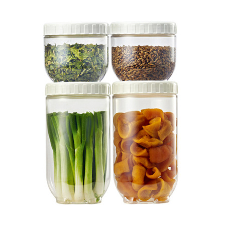 乐扣乐扣塑料保鲜盒厨房用品储物箱米桶密封罐谷物杂粮盒米箱储物罐四件套