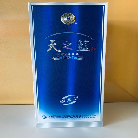 洋河蓝色经典天之蓝,酒精度42%,净含量480ml