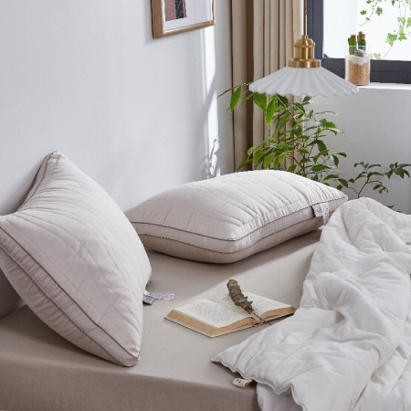 床上用品 约克罗兰 羊绒蛋白美肤枕 枕头对枕