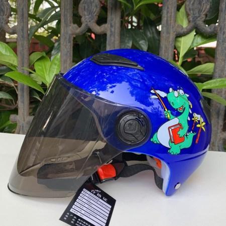 ANSH安顺儿童摩托车电动车头盔夏季安全帽卡通可爱宝宝轻便5-12岁