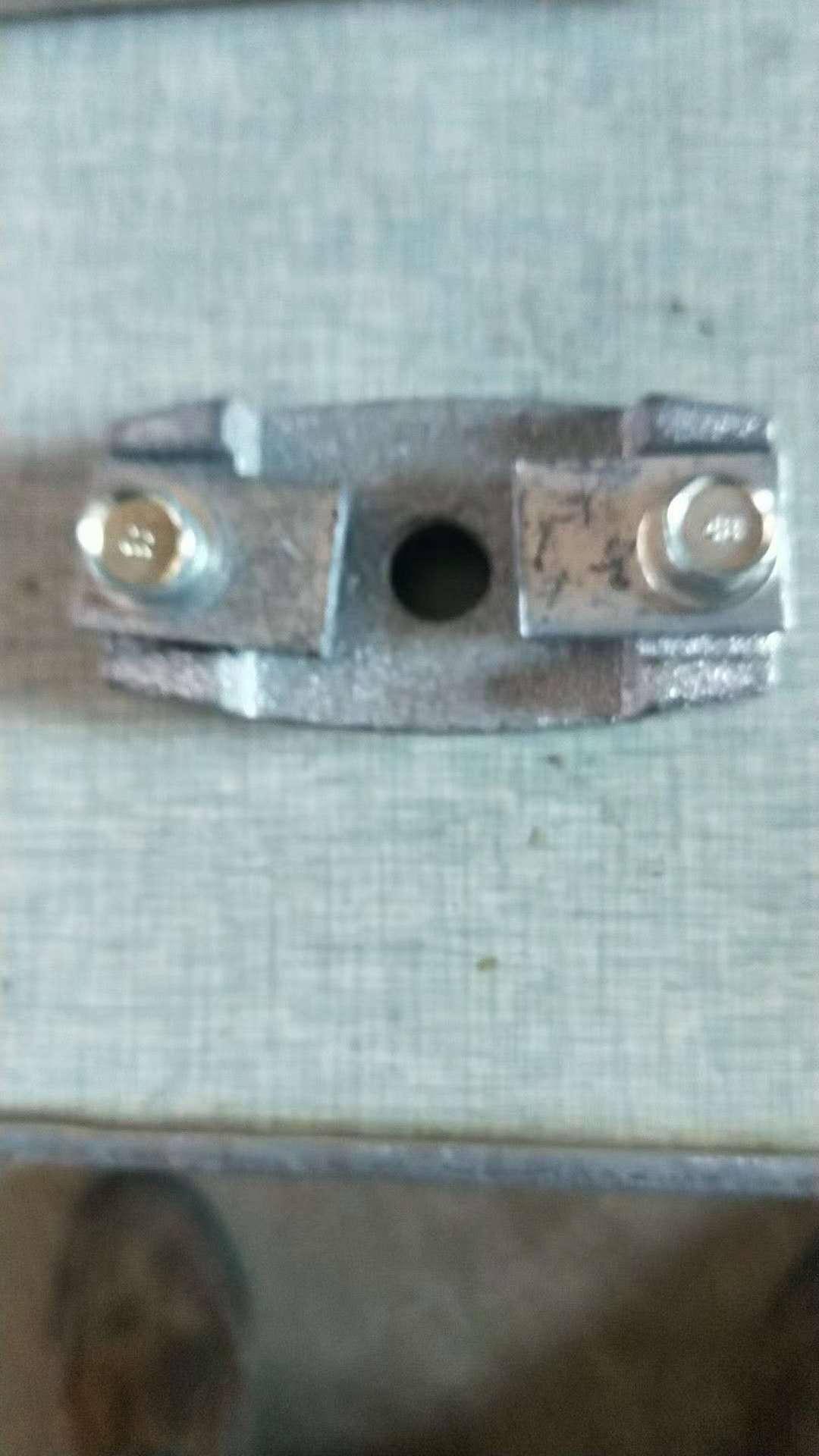 铸钢夹板 HYLG-1,55mm*55mm,材质DMC及铸钢件,精密铸造