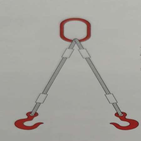 钢丝绳压制索具(一环二腿)
