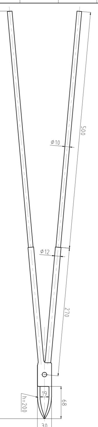 取样夹钳 Φ16-Φ50×300