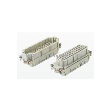 接插件三个出线孔 HAN64EEL-64/3/16A/AC500V 64针接插件