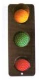 信号灯 ABC-3灯板直径100mm,容量AC220V,单灯功率8W