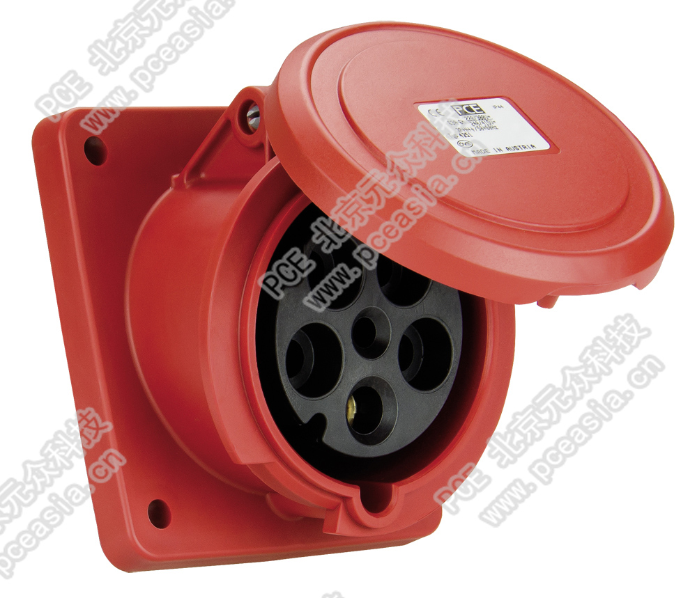法兰插座 直插(订货号3331-6 PCE3331-63A/3P/230V/IP44
