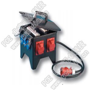 插座箱(手提式永久橡胶) PCE9474590,RCD:63A/4P/0.03*1只,380V/32A/5P*2只,380V/16A/5P*2只,230V/16A/2P*4只