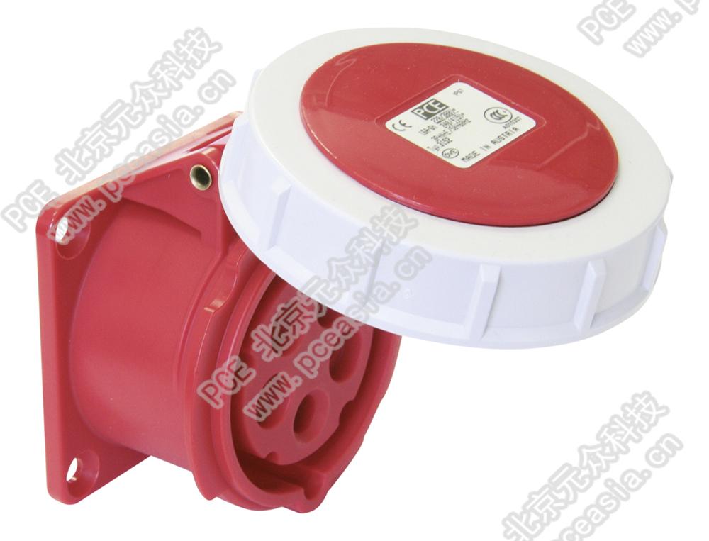 法兰插座 直插(订货号3152-6 PCE3152-16A/5P/400V/IP67