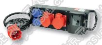 插座箱(便携式永久橡胶) PCE9441075,RCD:63A/4P/0.03*1只,380V/32A/5P*2只,230V/16A/2P*2只