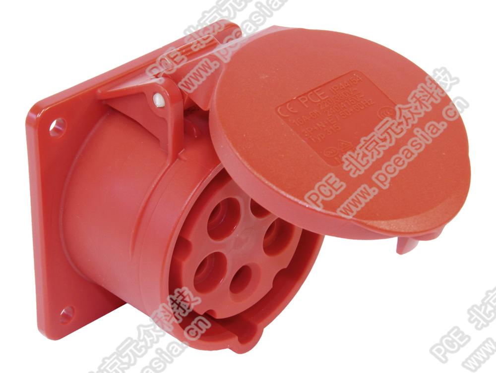 法兰插座 直插(订货号324-6f7 PCE324-32A/4P/400V/IP44