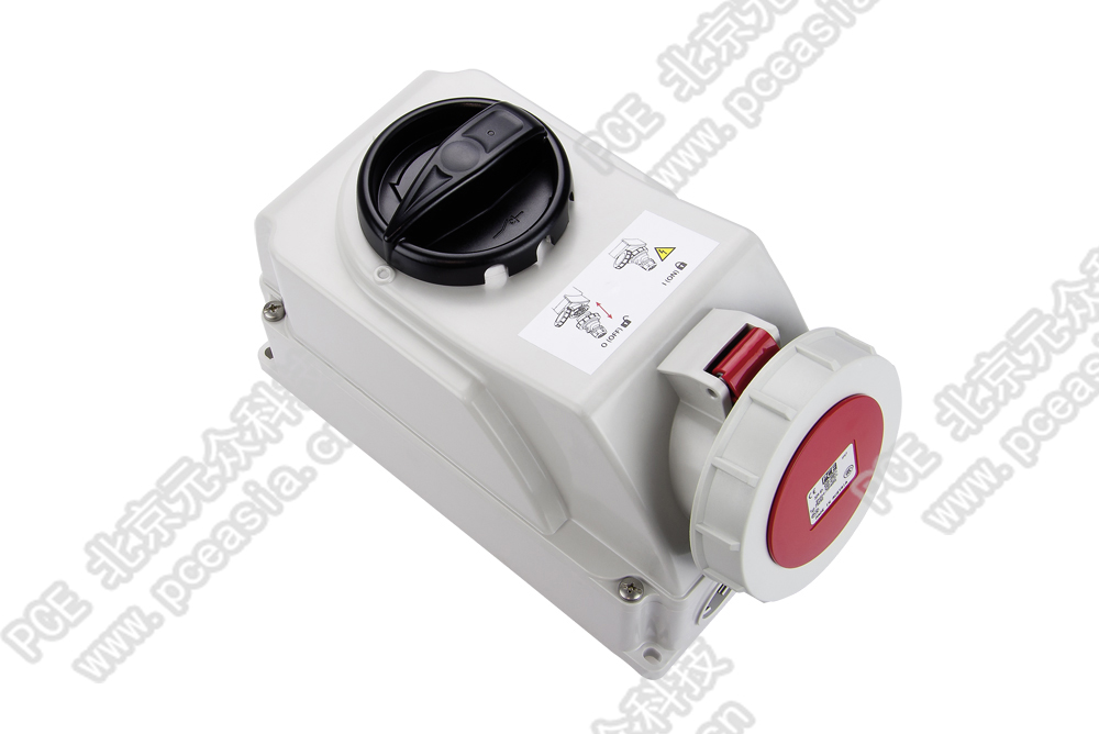开关连锁插座(订货号75252-6 PCE75252-32A/5P/400V/IP67