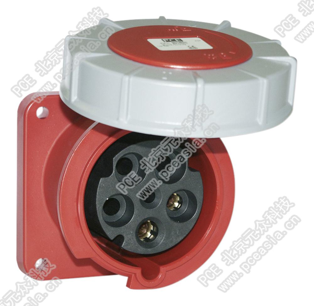 法兰插座 直插(订货号335-6 PCE335-63A/5P/400V/IP67