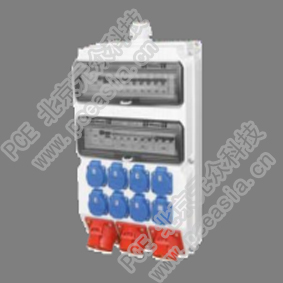 PCE插座箱(壁挂式)IP66 PCE-DB中B,RCD:63A/4P/0.03*1只,380V/32A/5P*1只,380V/32A/3P*1只,230V/16A/3P*1只