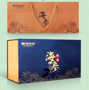 馨海渔港即食刺参 健康礼9-10头/500g 6年 1000g/盒海参海鲜礼盒