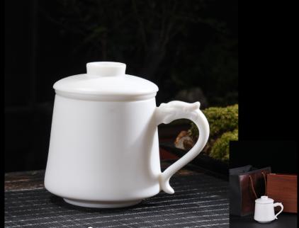 大润窑茶具宏裕素窑办公杯(顶级中国白)DRY066