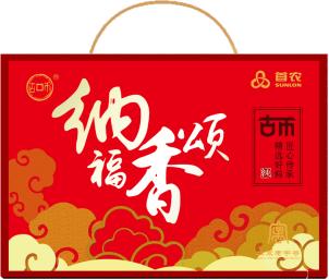 首农纳福香颂调味品礼盒490ml+515g(香油+芝麻酱+芝麻)h