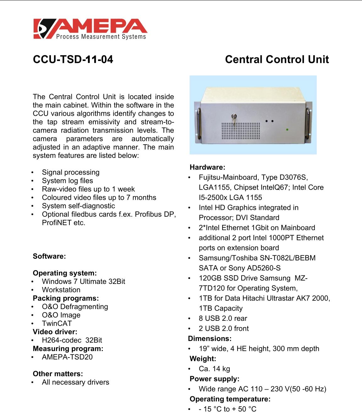 TSD控制单元 CCU-TSD-11(含软件)