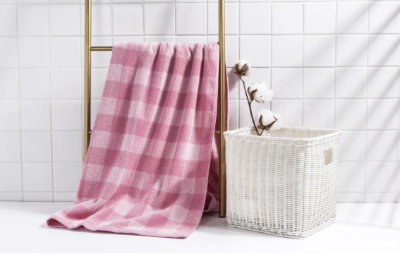 洁丽雅100%新疆长绒棉格调生活-9浴巾*1条 毛巾礼品