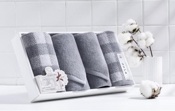 洁丽雅100%新疆长绒棉格调生活-10面巾*4条 毛巾礼品