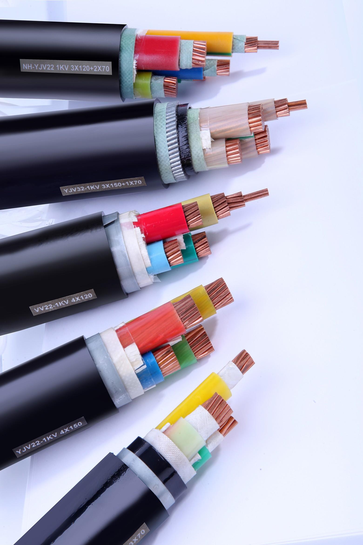 动力电缆 YJV-3×10+1×6/1KV