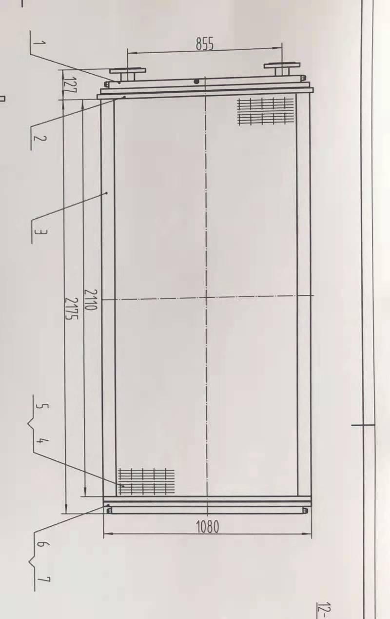 直流电机背包冷却器 与Z560/800KW 直流电机冷却背包配套,需要现场测绘,紫铜管直径16毫米,厚度1.1毫米