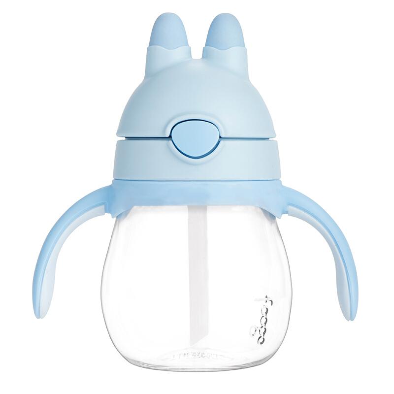 膳魔师萌小兔PA材质弹盖手柄吸管杯 母婴健康守护