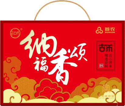 首农纳福香颂调味品礼盒490ml+515g芝麻香油芝麻酱黑芝麻礼品h